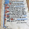 Original Illuminated House Blessing on real parchment by E. Helene Sherman