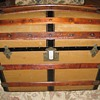 1880 Dome Top Canvas Covered Trunk