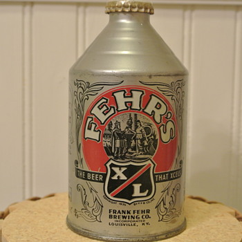 1950s Fehr's XL Crowntainer  - Breweriana