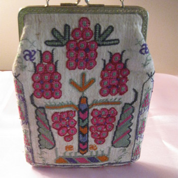 ART DECO Needle point purse vibrant - Art Deco