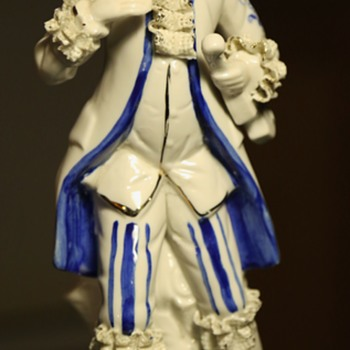 Porcelain Guy with Lacy Cuffs