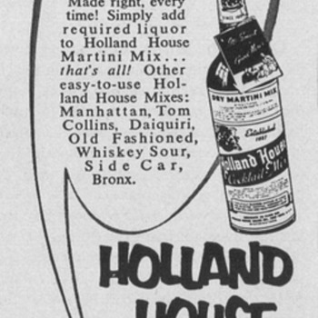 1954 Holland House Mixers Advertisements - Advertising