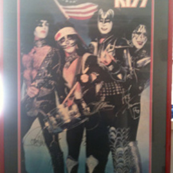 1976 Mint autograpghed framed poster - Music