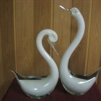 Hoping swans are Murano - Art Glass