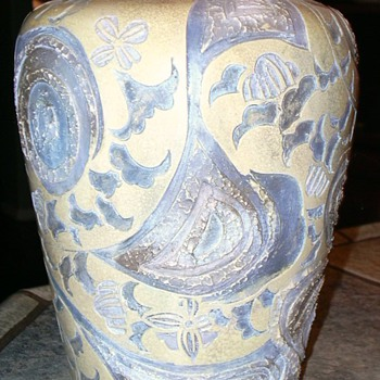 Carved vase mystery - Art Pottery