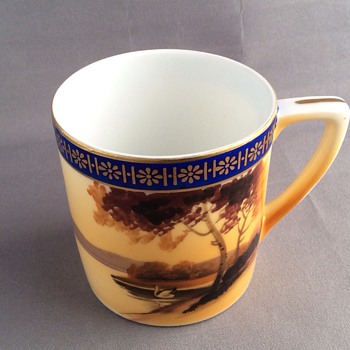 Hand painted Japanese cup - Asian