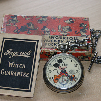 1936 English Mickey Mouse Pocket Watch - Pocket Watches