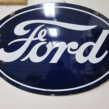 Ford Oval sign - Signs
