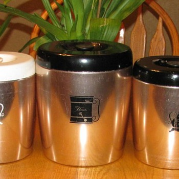 Vintage West Bend Copper Kitchen Canisters - Kitchen