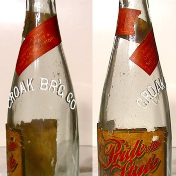 Early Labeled Croak Brewing Co. Janesville WI  - Bottles