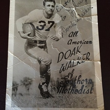 Doak Walker All American RPPC Autographed while in College