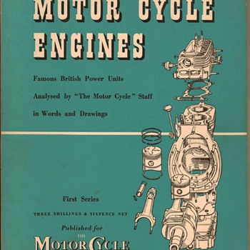 "1954 - ""Motor Cycle Engines"" - Book"