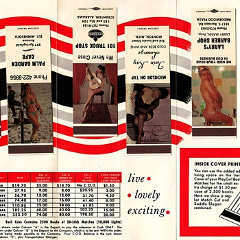 Strike a Truck Stop Match!  Sleazy Match Book Salesman Sample - Advertising