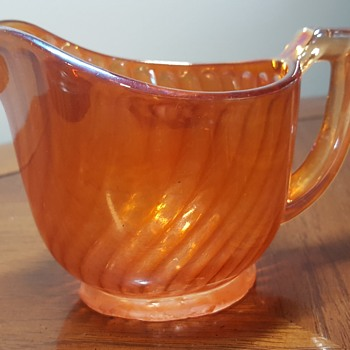 Carnival Glass Creamer - Glassware
