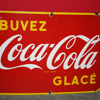coca cola porcelain sign - Coca-Cola