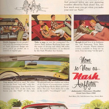 1953 - Nash Airflytes Advertisement - Advertising