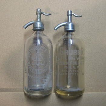 Gruber Bottling Works Seltzer bottles - Bottles