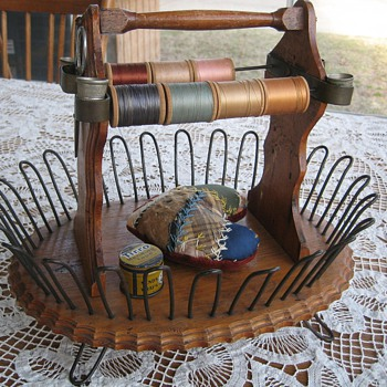 Wood and wire sewing caddy - Sewing