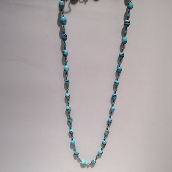 Vintage glass necklace