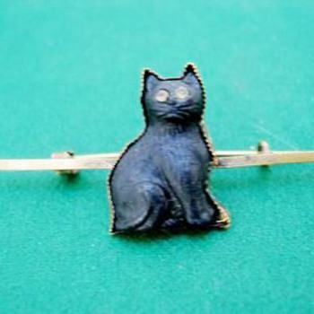 Black Cat Pin - Costume Jewelry