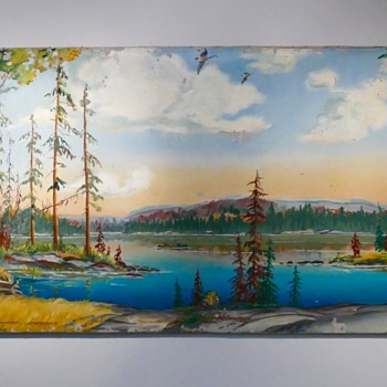 I have this big painter for awhile. Can anyone tell me something about this painter?  - Visual Art