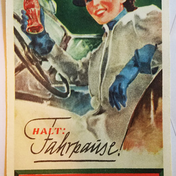 1930s German Coca Cola Autobahn pamphlet  - Coca-Cola