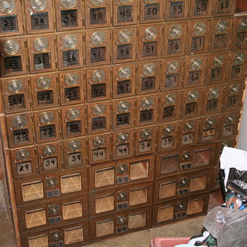 Post office boxes.   - Office