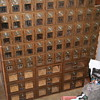 Post office boxes.  