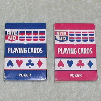 Rite-Aid Poker Card Sets - Cards