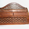 Antique Rosewood Honeycomb Letter Holder