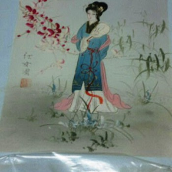 Asian Painting on  stretch canvas