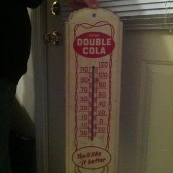 Double Cola thermometer - Advertising