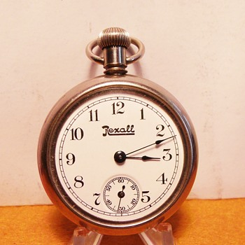 "1910 ""Rexall"" United Drug Store Advertisement Pocket Watch - Pocket Watches"