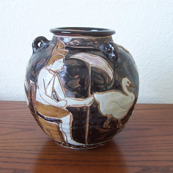 Egyptian Motif Pottery - Art Pottery