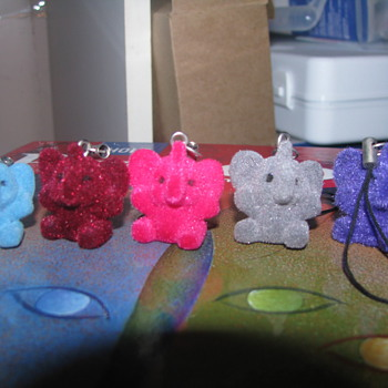 Fuzzy elephant charms