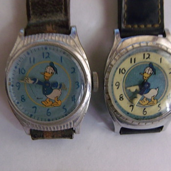 1949 Birthady Series Donald Duck Wrist Watches - Wristwatches