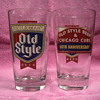 Chicago Cubs Pint Glass by Old Style Beer