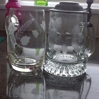 Glass beer stein & mug - Breweriana