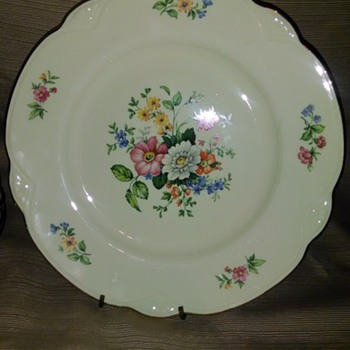 Aunt Carols Homer Laughlin dinner plates