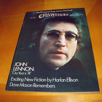 Crawdaddy Magazine-Lennon cover story-March 1974