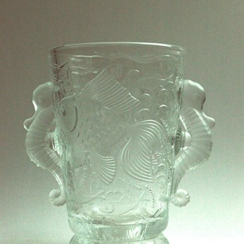 "nice  bohemian art deco  ""sea horses "" vase  by JOSEF INWALD for BAROLAC - Art Deco"