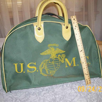 Vintage USMC Bag Semper Fidelis - Military and Wartime
