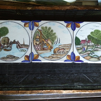 DUTCH/DELFT POLYCHROME TILES (ca 17th century) - Art Pottery