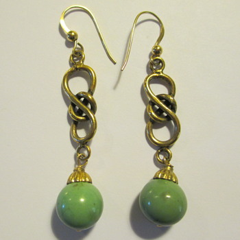 Turquoise Franken-Earrings (gold filled)
