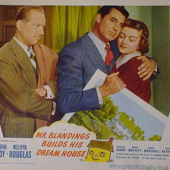 Mr. Blandings Builds His Dream House Original Lobby Cards 1938 Cary Grant And Myrna Loy - Movies
