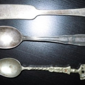 3 silver-plated pieces, late 1800s - Silver