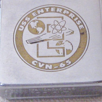 Vintage US Navy Legendary USS Enterprise CVN-65 Zippo Lighter Bradford, PA  - Tobacciana
