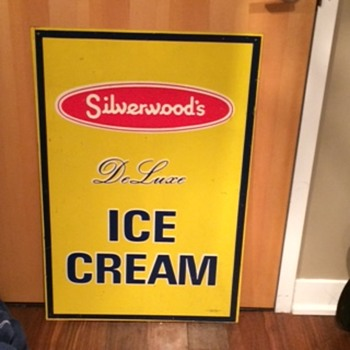 VINTAGE SILVERWOOD'S DAIRY ICE CREAM SIGNS! - Advertising