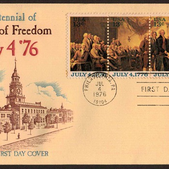 "1976 - ""U.S. Bicentennial"" - First Day Cover"