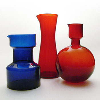 3 jugs designed by H.H. Engler and Klaus Breit, Wiesenthalhütte (1961-1957-1968) - Art Glass
